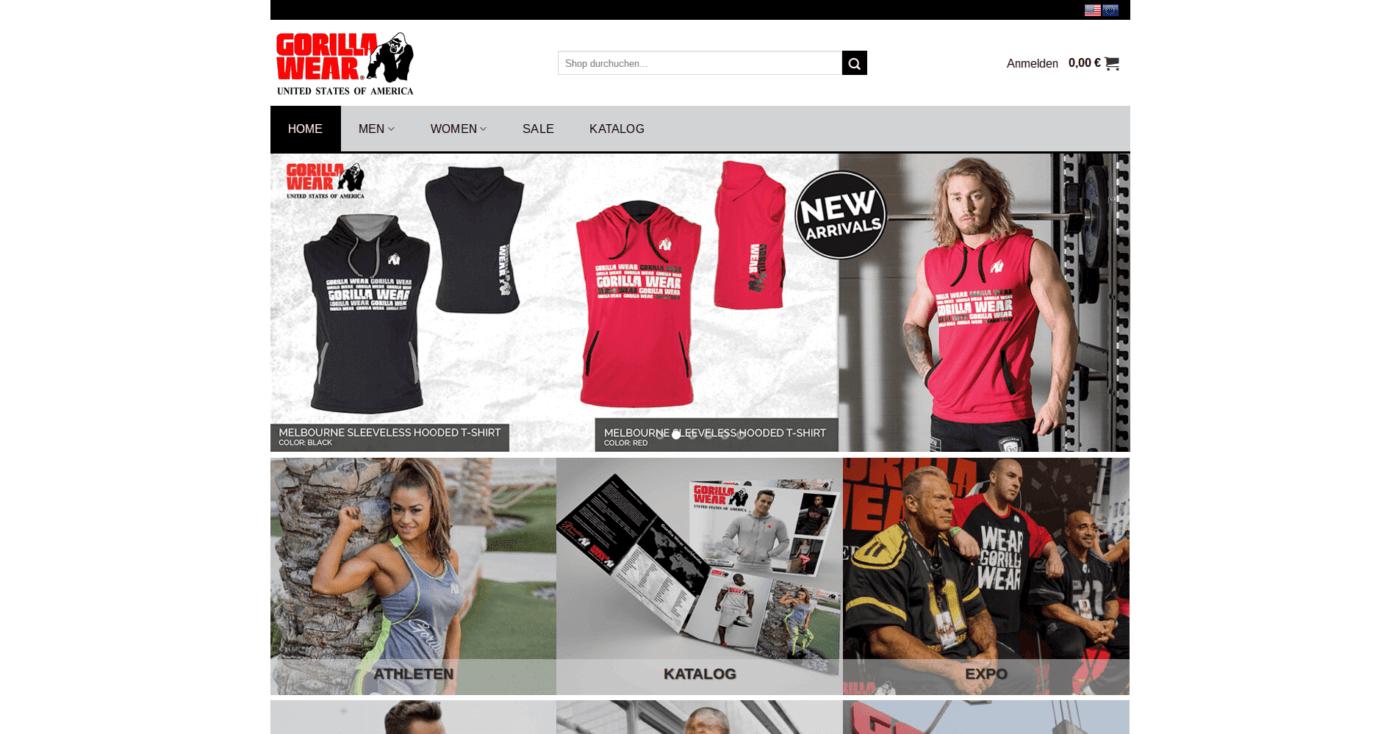 Gorilla Wear Deutschland Online Shop Bodybuilding und Fitness Lifestyle Marke