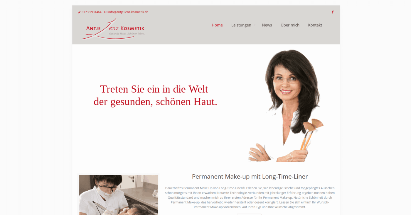 Gesunde Haut schöner Leben Kosmetikstudio Saarland Saarbrücken › Antje Lenz Kosmetik